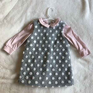 Dotty and Pink Toddler Shift Dress Set